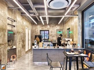 세련된 빈티지의 카페 인테리어