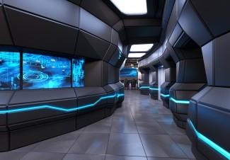 SF컨셉의 모스크바 게이밍 사무실 인테리어