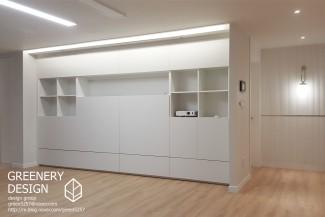 월플랙스와 심플한 모던 디자인 아파트인테리어