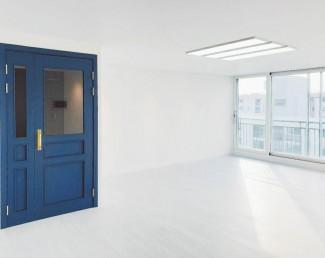 새하얀 화이트&블루 모던 아파트 인테리어